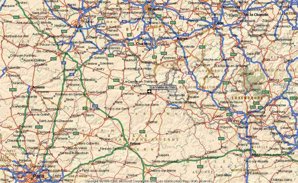Carte Du Nord Est De La France | popkensburg